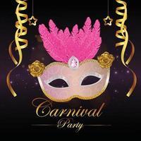 carte de voeux de fête de carnaval vecteur
