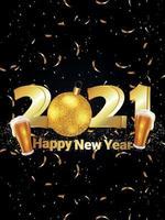 carte de voeux de célébration du nouvel an
