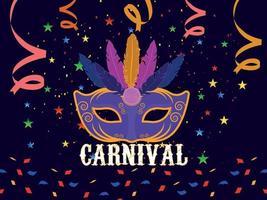 concept plat de carnaval vecteur