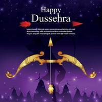 affiche de vente dussehra offre de réduction avec ram vecteur