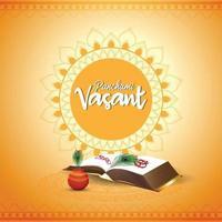 fond créatif vasant panchami avec saraswati veena et livres