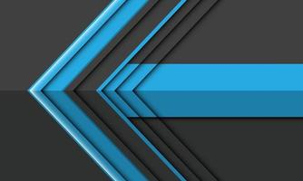 abstrait bleu gris flèche direction conception illustration vectorielle de fond futuriste moderne. vecteur