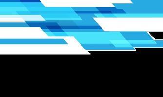 vitesse géométrique de la technologie bleue abstraite sur blanc avec illustration vectorielle de fond futuriste moderne vecteur