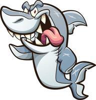 grand requin blanc vecteur