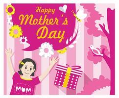 Vecteur de carte de fête des mères
