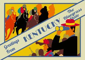 Kentucky Derby Cartes Postales vecteur