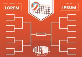 Affiche de support de tournoi de volleyball vecteur