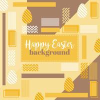 Vector Joyeuses Pâques Memphis fond