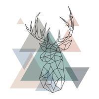 illustration de renne géométrique.