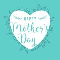 Plat vecteur de carte de fête des mères heureux
