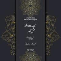mandala avec motif d'ornement floral, conception unique de motifs de relaxation de mandala de vecteur avec style nature. Élément de mandala zentangle dessin à la main pour cartes de décoration de page, livre, logos