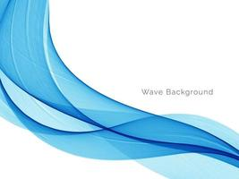 fond moderne de conception de vague bleue décorative