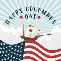 navire pour la célébration de la joyeuse journée de columbus