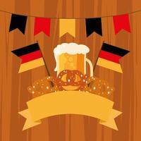 bannière de célébration de la bière oktoberfest vecteur