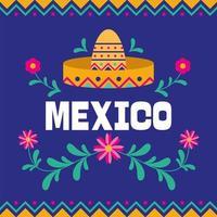 bannière de la fête de l'indépendance mexicaine vecteur