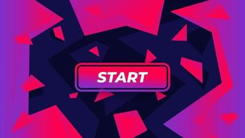 bouton Démarrer le jeu sur fond abstrait vecteur