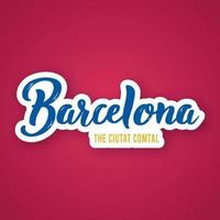 barcelone - expression de lettrage dessiné à la main.