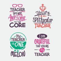 citations de motivation pour la journée des enseignants heureux vecteur