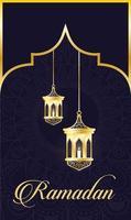 lampes suspendues pour la décoration ramadan kareem vecteur