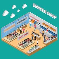 composition isométrique de vélo vecteur