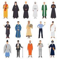 gens de religion plat vecteur