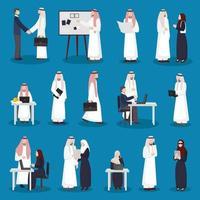 gens d'affaires arabes vecteur