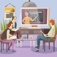 étudiants en éducation en ligne bachground vecteur