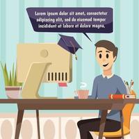 composition orthogonale de l'éducation en ligne vecteur