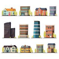 bâtiments d'habitation orthogonaux vecteur