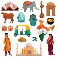ensemble de voyage en Inde vecteur