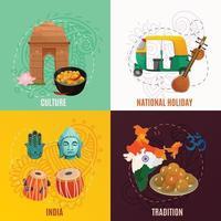 concept de voyage en Inde vecteur
