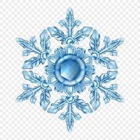 flocon de neige réaliste isolé vecteur