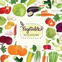 lettrage de dessin animé de légumes vecteur