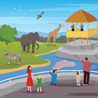 composition plate de zoo