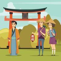 Japon composition orthogonale vecteur