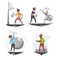 concept de conception de réalité virtuelle vecteur