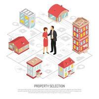 agence immobilière isométrique