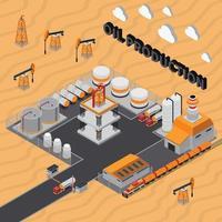 composition isométrique de l'industrie pétrolière et gazière vecteur