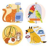 concept de design pour animaux de compagnie vecteur