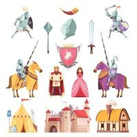 ensemble royal médiéval vecteur