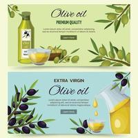 bannières de dessin animé d'olive vecteur