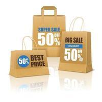 affiche de vente de sac à provisions en papier