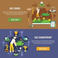 ensemble de bannière de golf vecteur