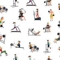 modèle sans couture de gym équipement d & # 39; exercice vecteur