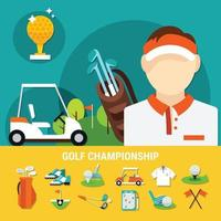 illustration plat de golf vecteur