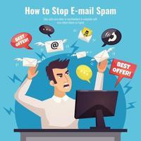 spam malware ad illustration humaine vecteur