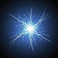 foudre électrique starburst réaliste vecteur