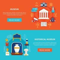 illustration vectorielle plane musée vecteur