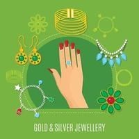 illustration vectorielle de bijoux vecteur