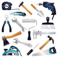 ensemble d'instruments de constructeur vecteur